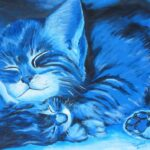 Cats in blue - acryl- 50x60 cm - 2003